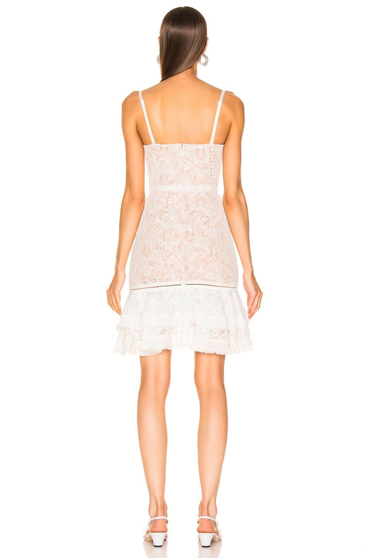 Image 4 of JONATHAN SIMKHAI Multimedia Corded Lace Ruffle Dress in White