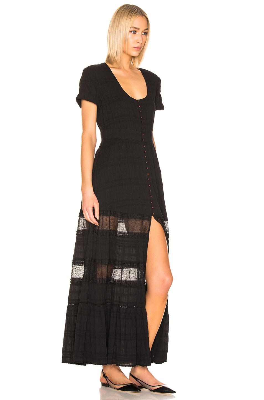 Image 2 of JONATHAN SIMKHAI Lace Front Slit Maxi Dress in Black