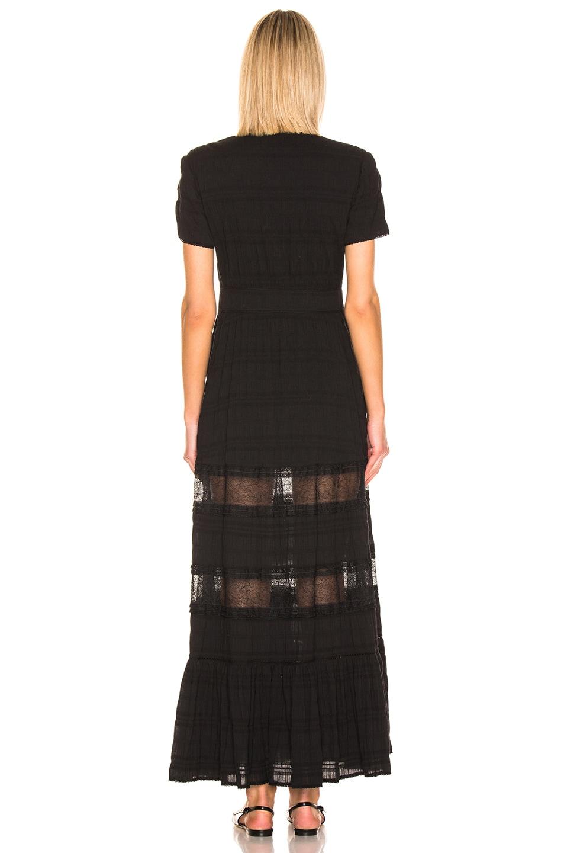 Image 3 of JONATHAN SIMKHAI Lace Front Slit Maxi Dress in Black