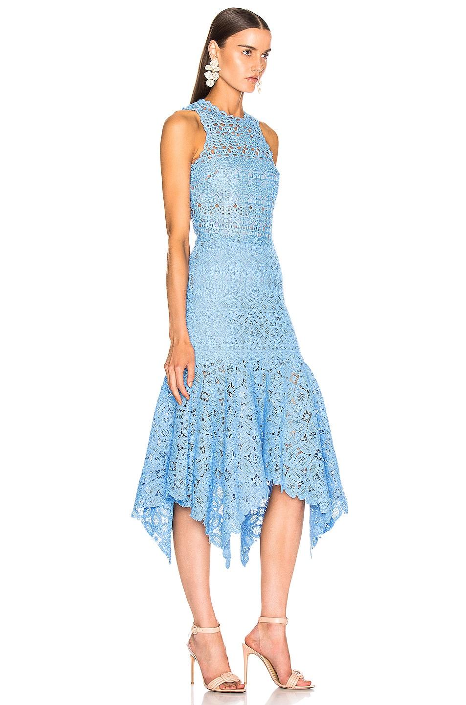 Image 2 of JONATHAN SIMKHAI Crochet Lace Handkerchief Dress in Sky Blue