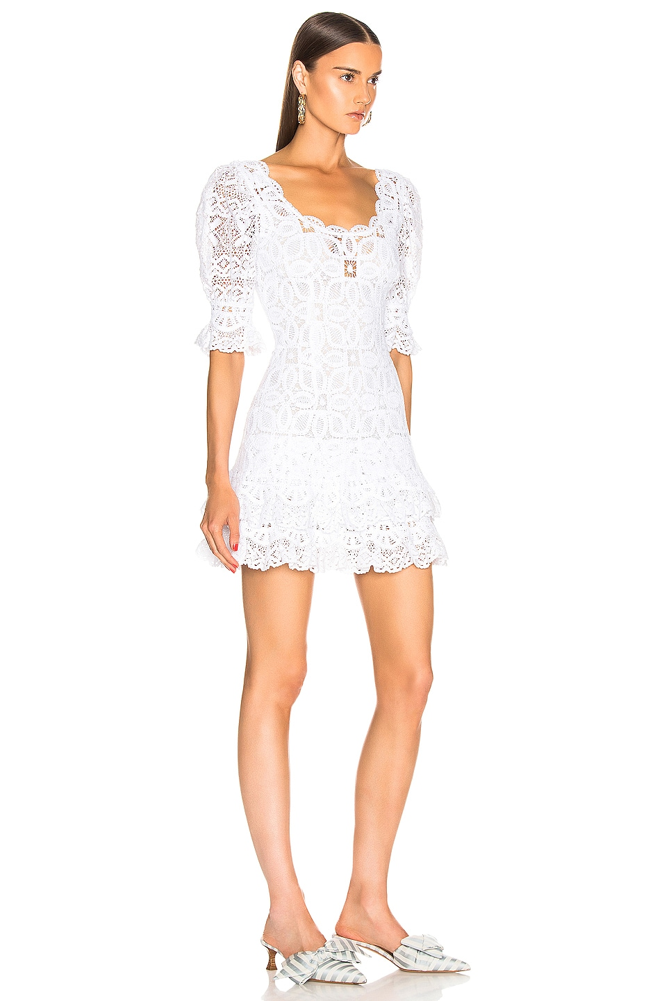 Image 2 of JONATHAN SIMKHAI Crochet Lace Mini Dress in White