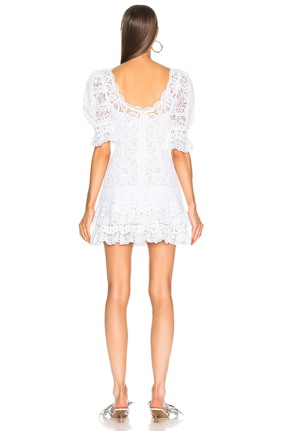 Image 3 of JONATHAN SIMKHAI Crochet Lace Mini Dress in White