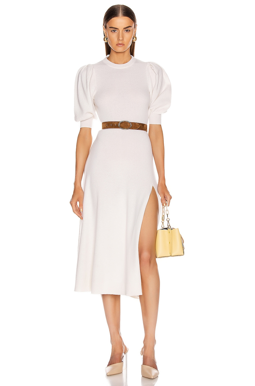 Image 1 of JONATHAN SIMKHAI Cashmere Front Slit Dress in White