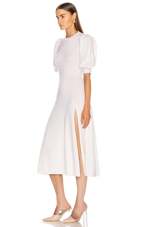 Image 3 of JONATHAN SIMKHAI Cashmere Front Slit Dress in White