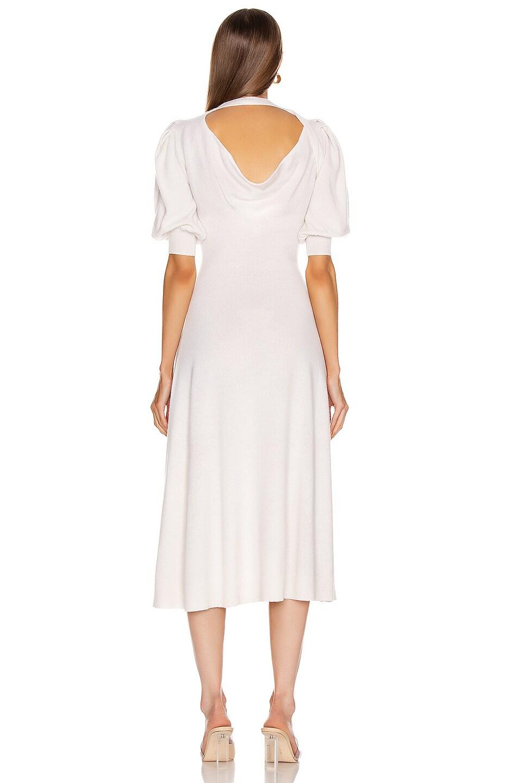 Image 4 of JONATHAN SIMKHAI Cashmere Front Slit Dress in White
