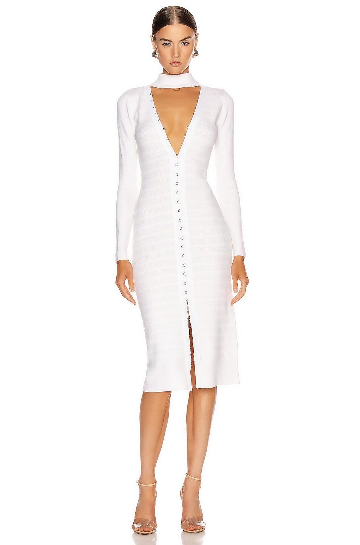 Image 1 of JONATHAN SIMKHAI Slit Front Dress in White