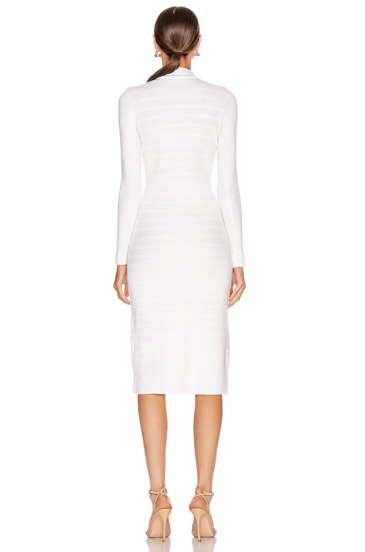 Image 3 of JONATHAN SIMKHAI Slit Front Dress in White
