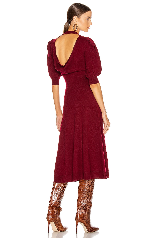 Image 1 of JONATHAN SIMKHAI Cashmere Front Slit Dress in Oxblood