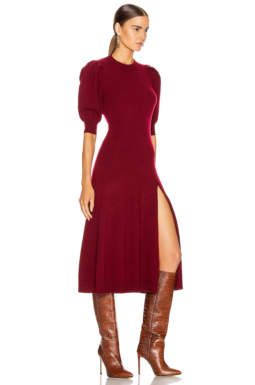 Image 3 of JONATHAN SIMKHAI Cashmere Front Slit Dress in Oxblood
