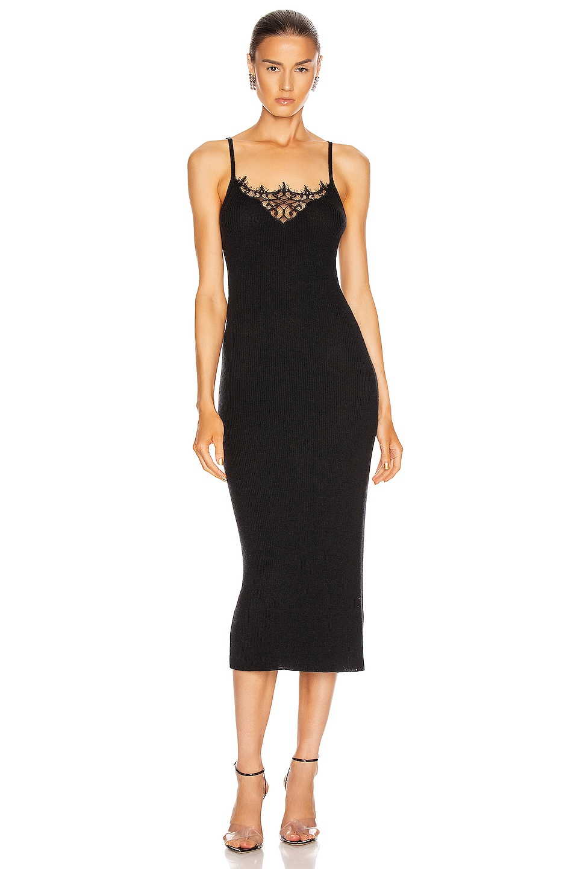 Image 1 of JONATHAN SIMKHAI Melanie Cashmere Lace Tank Dress in Black