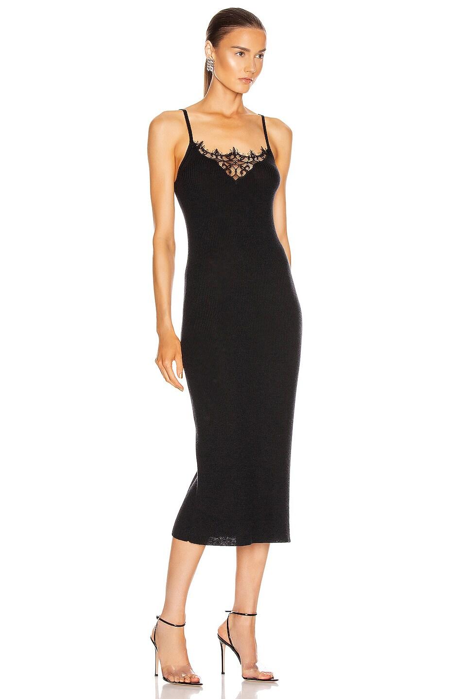 Image 2 of JONATHAN SIMKHAI Melanie Cashmere Lace Tank Dress in Black