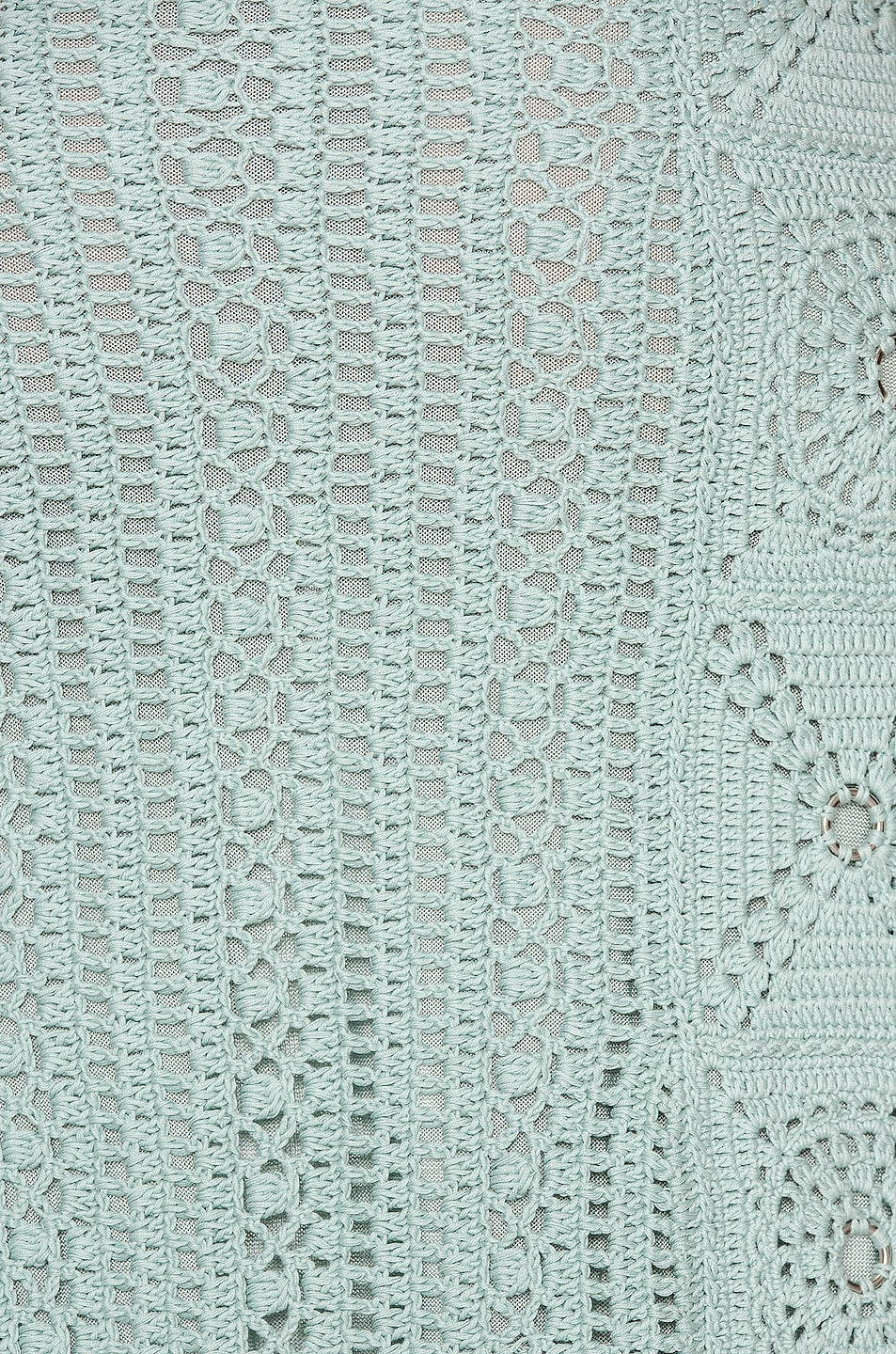 Image 5 of JONATHAN SIMKHAI Remi Hand Crochet Dress in Seafoam