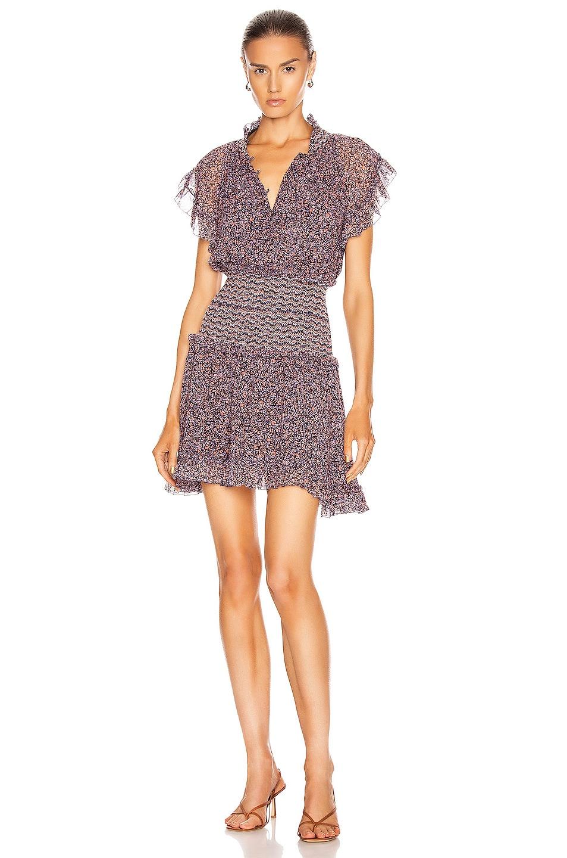 Image 1 of JONATHAN SIMKHAI Serena Floral Chiffon Dress in Sedona