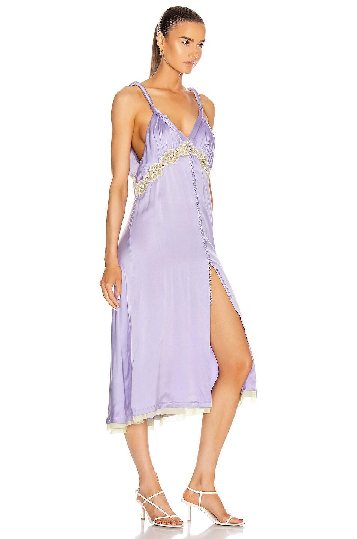Image 2 of JONATHAN SIMKHAI Kendra Sandwashed Charmeuse Dress in Electric Lilac