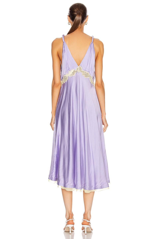 Image 3 of JONATHAN SIMKHAI Kendra Sandwashed Charmeuse Dress in Electric Lilac