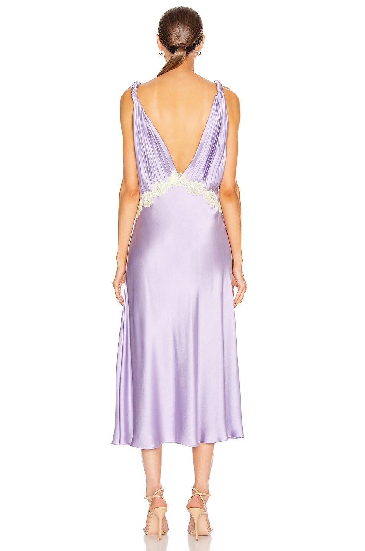 Image 4 of JONATHAN SIMKHAI Kendra Sandwashed Charmeuse Dress in Electric Lilac