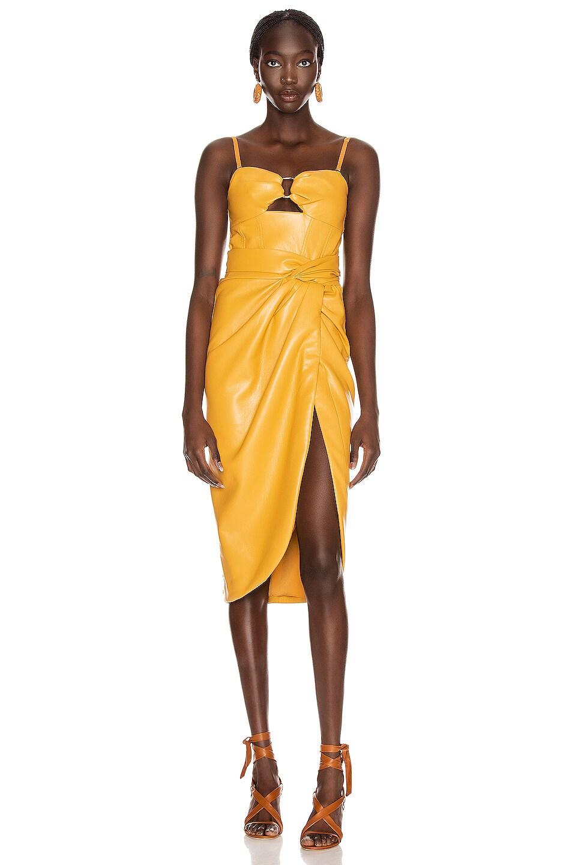 Image 2 of JONATHAN SIMKHAI Vegan Leather Bustier Dress in Honey