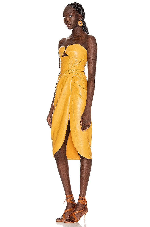 Image 4 of JONATHAN SIMKHAI Vegan Leather Bustier Dress in Honey