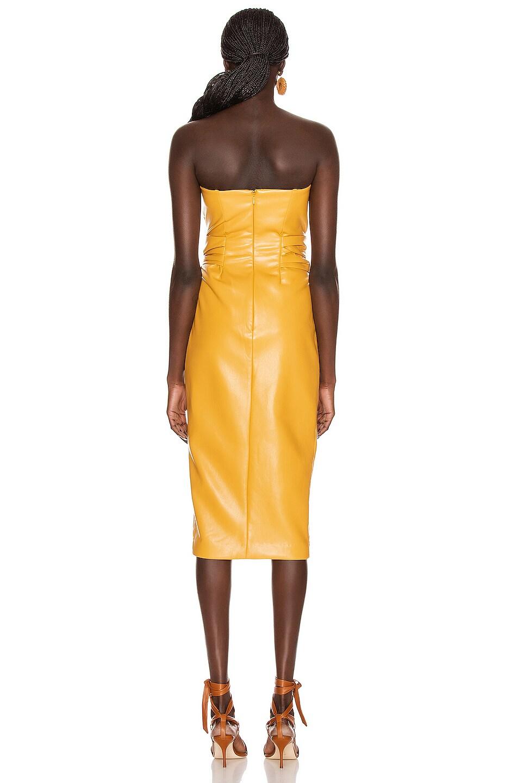 Image 5 of JONATHAN SIMKHAI Vegan Leather Bustier Dress in Honey