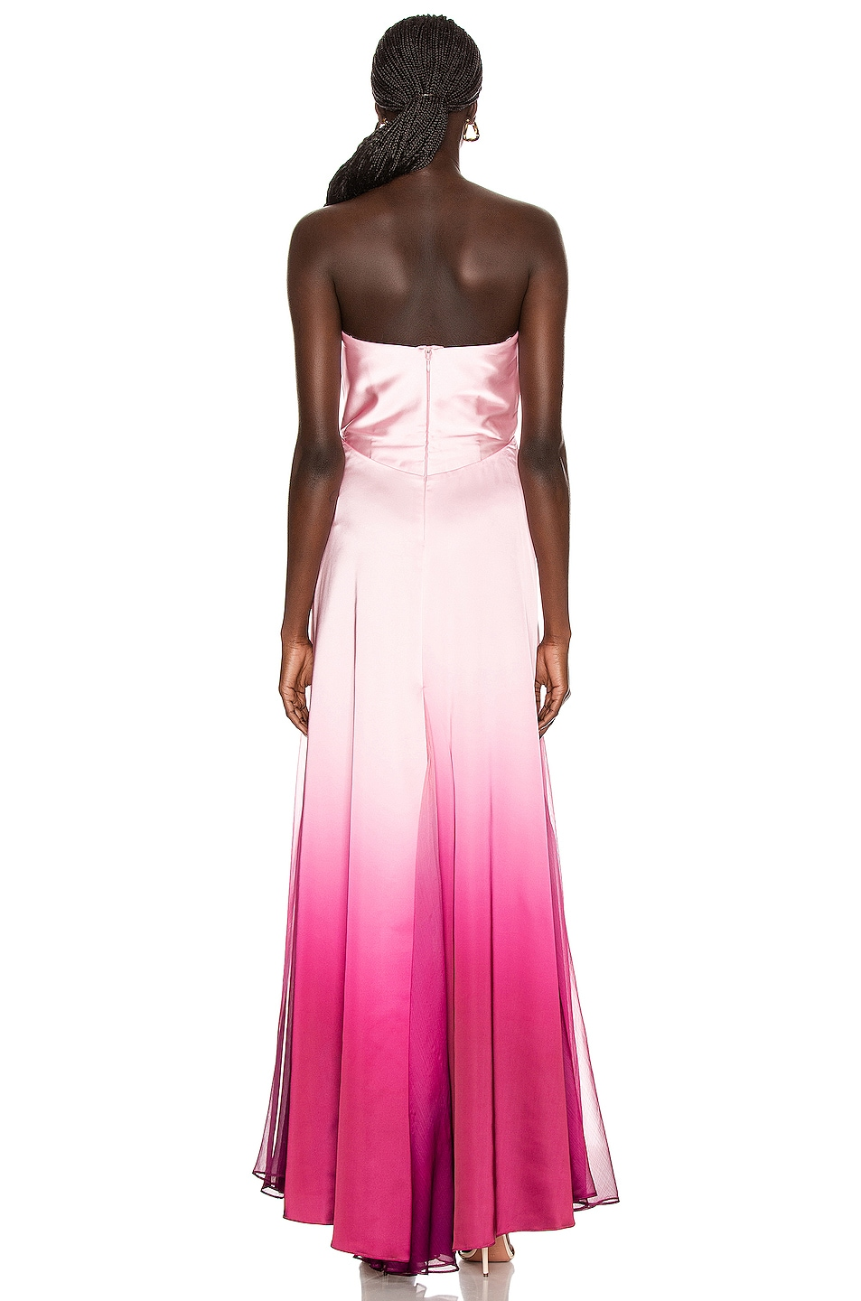 Image 4 of JONATHAN SIMKHAI Ombre Cutout Bustier Gown in Magenta Ombre