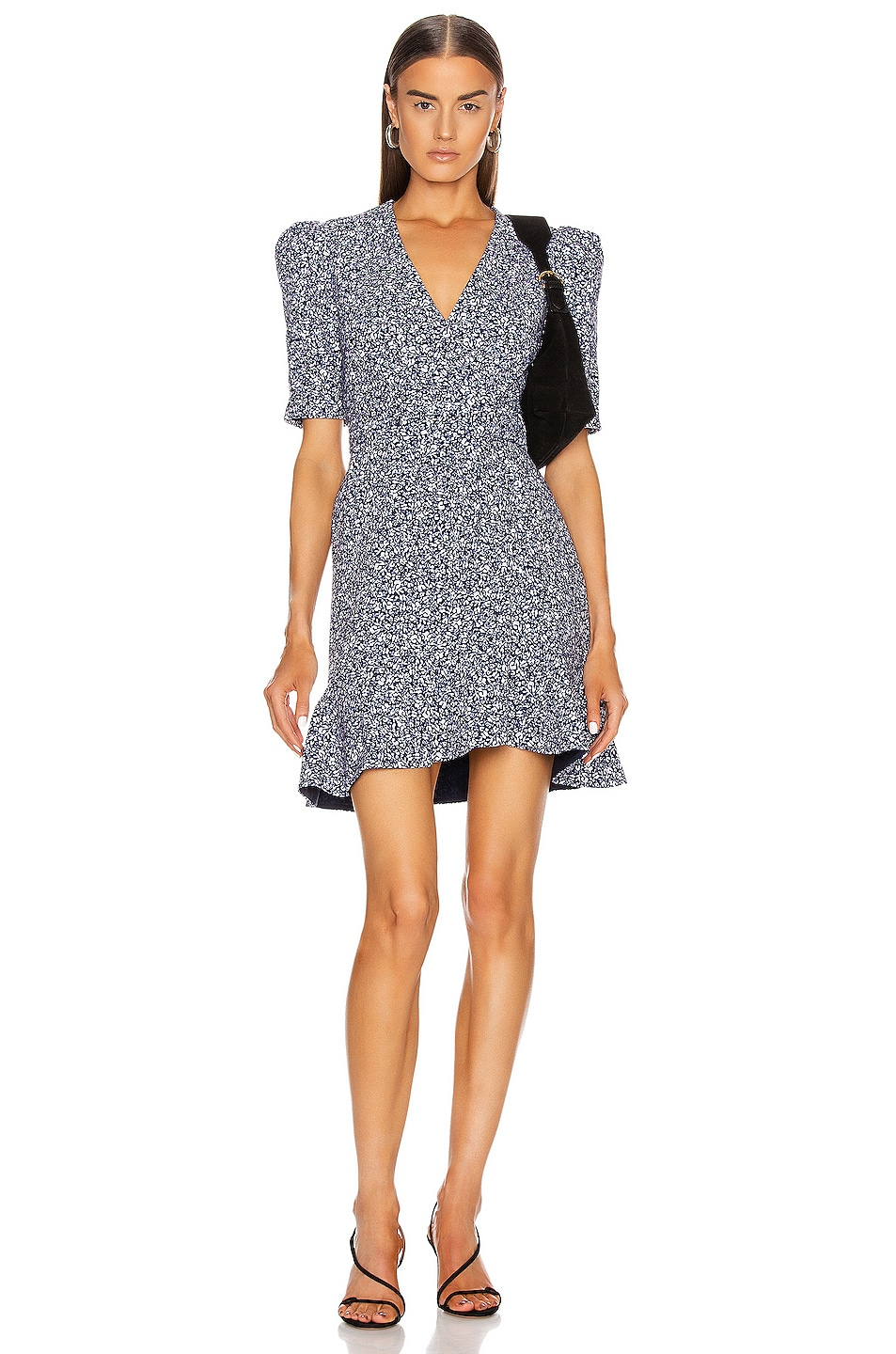 Image 1 of JONATHAN SIMKHAI Evelyn Floral Dress in Midnight