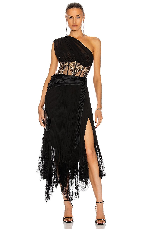 Image 1 of JONATHAN SIMKHAI Maude Lace Midi Dress in Black