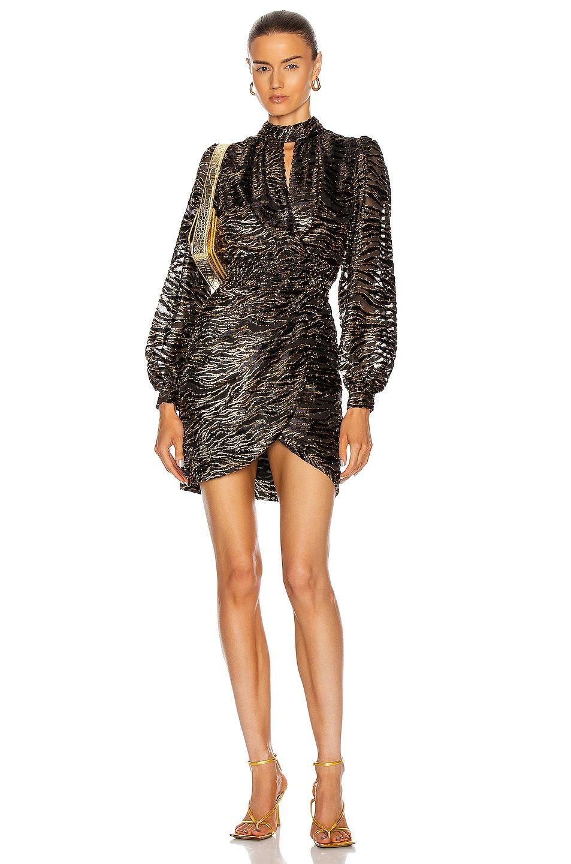 Image 1 of JONATHAN SIMKHAI Vita Wrap Dress in Black Lurex