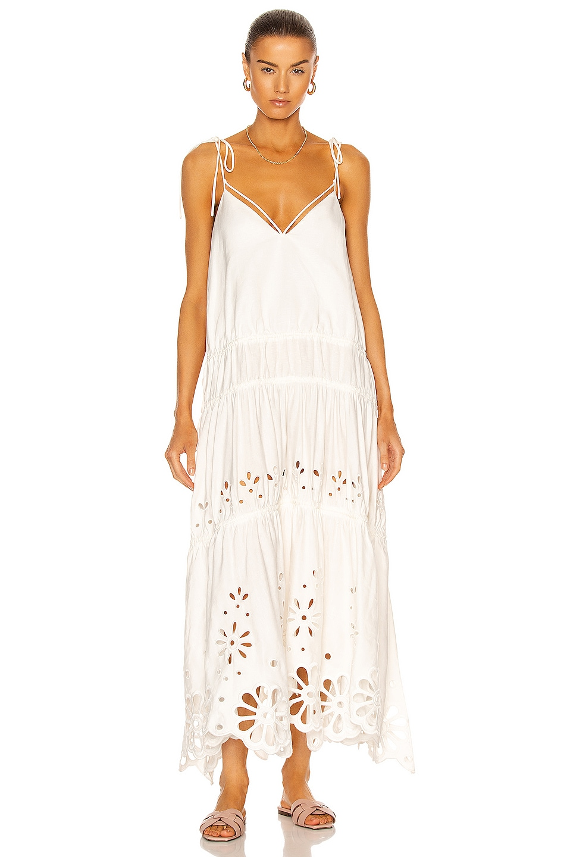 Image 1 of JONATHAN SIMKHAI Juna Midi Dress in White