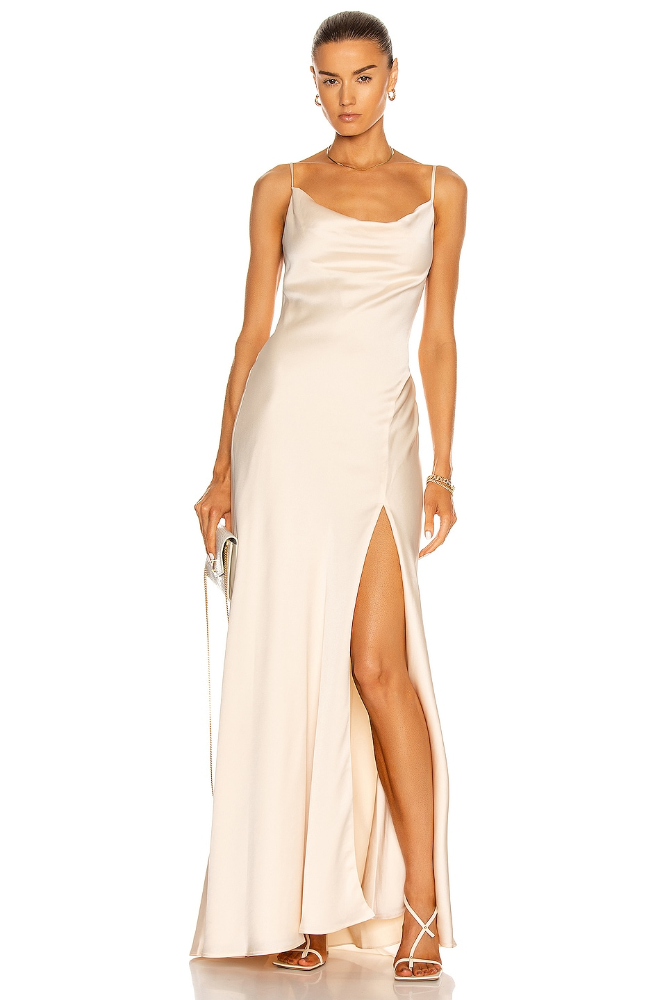 Image 1 of JONATHAN SIMKHAI Finley Cocktail Gown in Egret