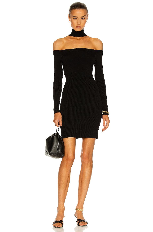 Image 1 of JONATHAN SIMKHAI Juliana Off the Shoulder Mini Dress in Black