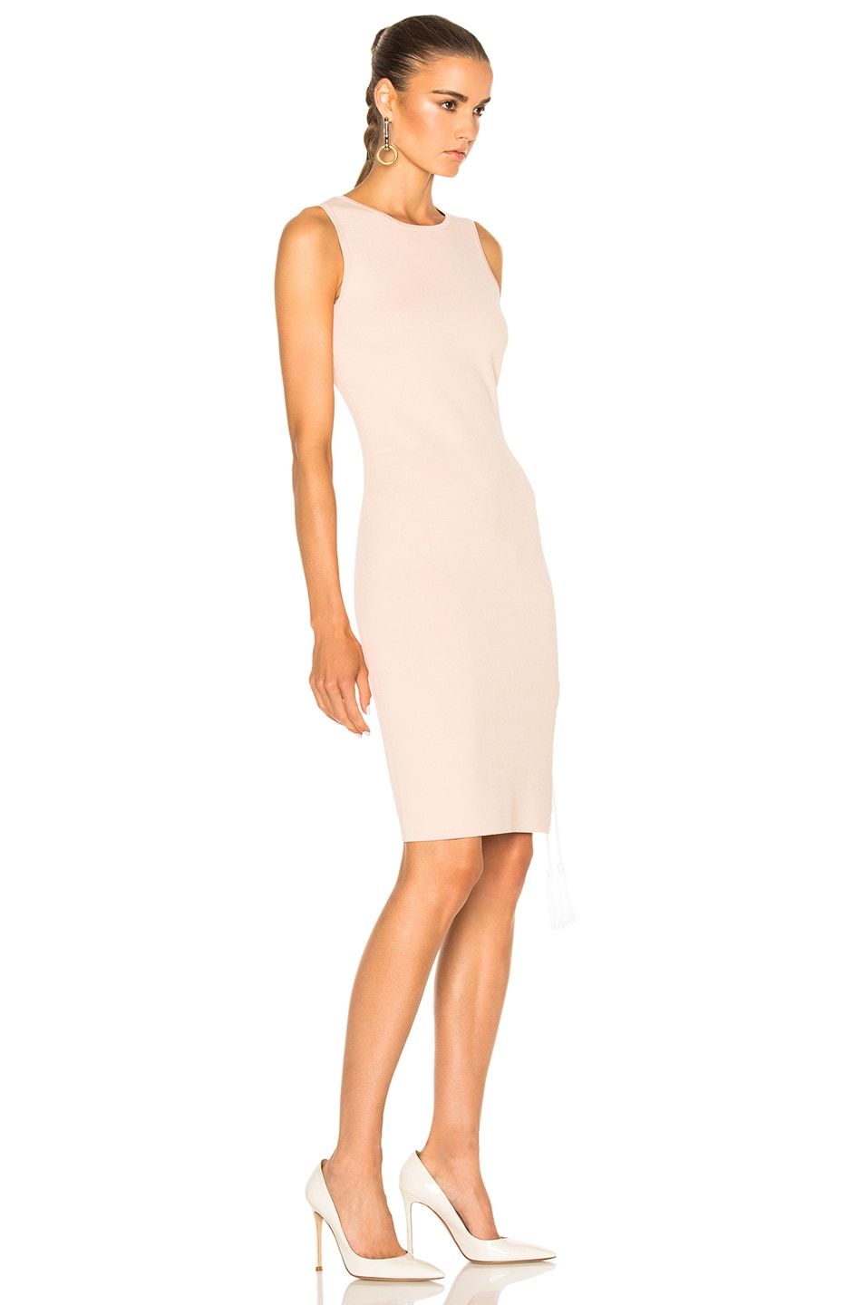 Image 3 of JONATHAN SIMKHAI for FWRD Knit Lace-up Dress in Nude