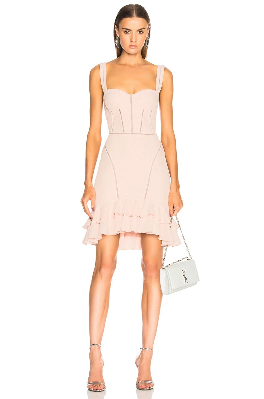 JONATHAN SIMKHAI Seersucker Bustier Mini Dress in Powder Pink | FWRD