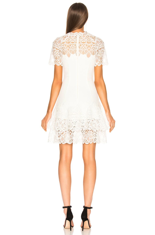 Image 3 of JONATHAN SIMKHAI Multimedia Lace Mini Tee Dress in White