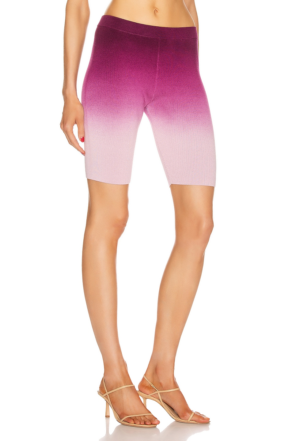 Image 2 of JONATHAN SIMKHAI Ombre Compact Knit Biker Short in Magenta Ombre