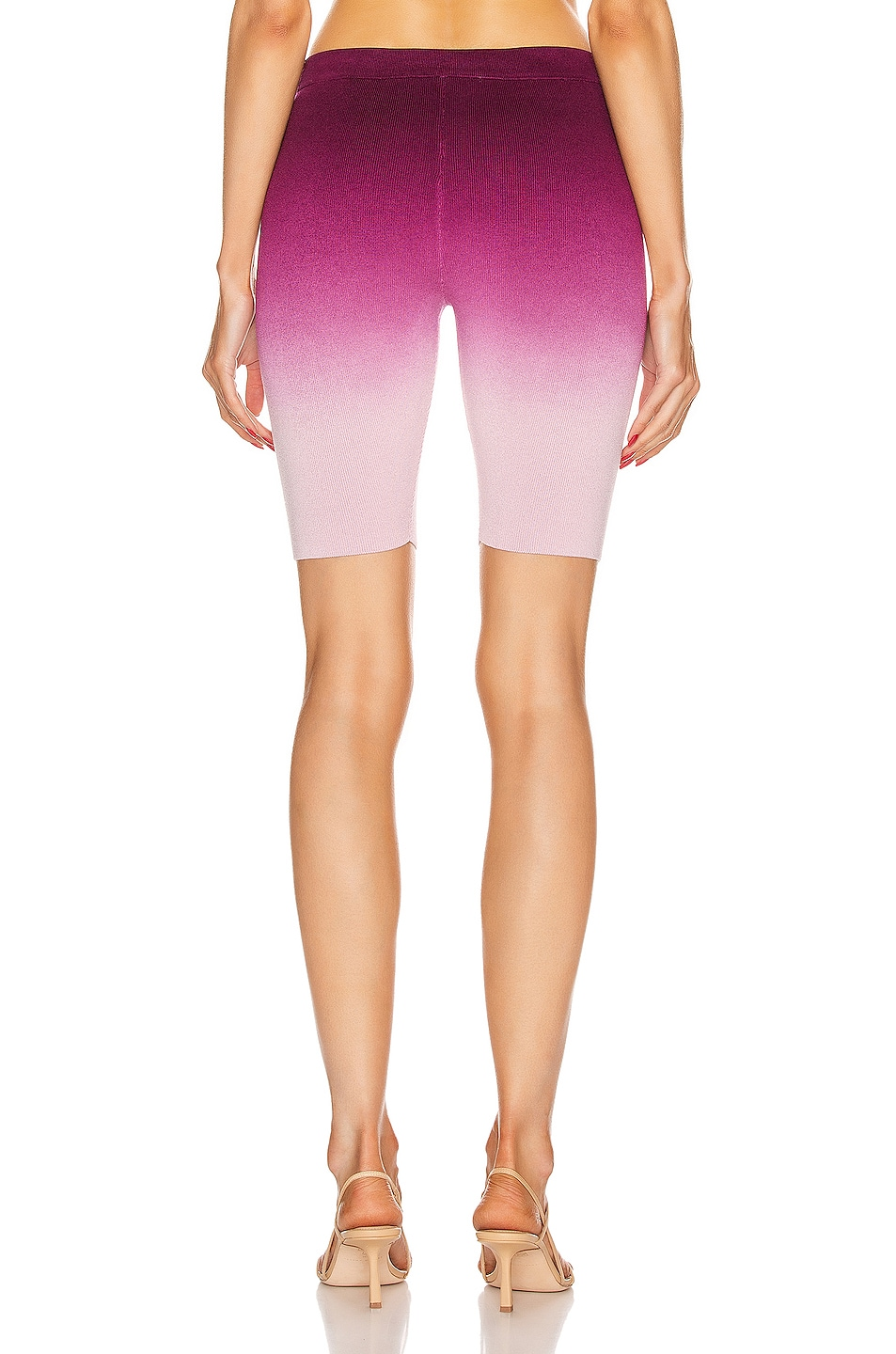 Image 3 of JONATHAN SIMKHAI Ombre Compact Knit Biker Short in Magenta Ombre
