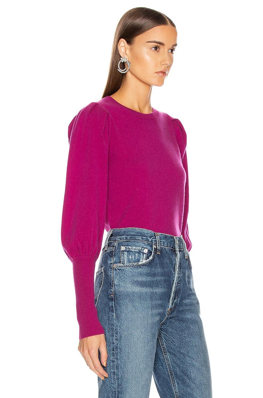 Image 2 of JONATHAN SIMKHAI Cashmere Puff Sleeve Sweater in Fuchsia
