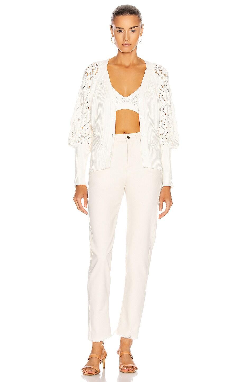 Image 5 of JONATHAN SIMKHAI Adeline Rib Cardigan in White