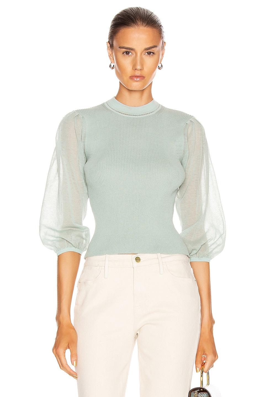 Image 1 of JONATHAN SIMKHAI Veronica Tissue Sweater in Seafoam