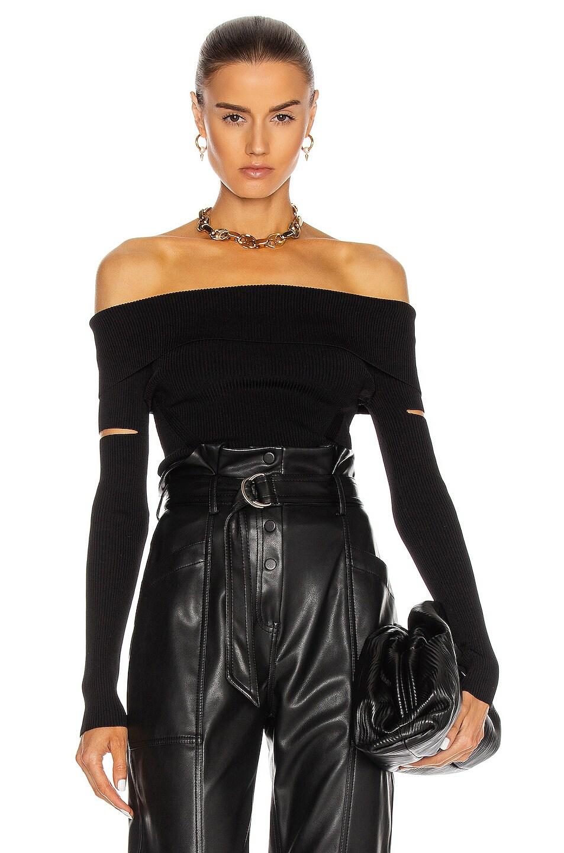 Image 1 of JONATHAN SIMKHAI Zayla Off The Shoulder Sweater in Black
