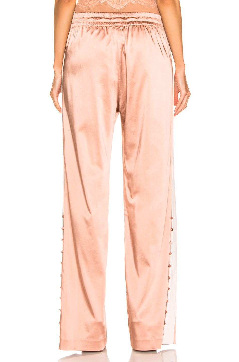 Image 4 of JONATHAN SIMKHAI Crepe Satin Combo Track Pant in Pink Sand & Nude