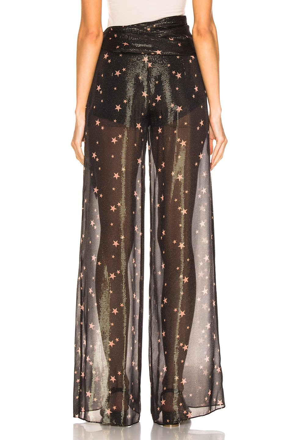 Image 3 of JONATHAN SIMKHAI for FWRD Tie Waist Sheer Pant in Star Print