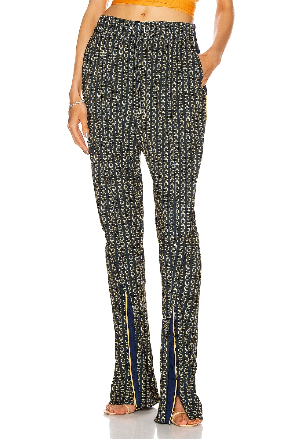 Image 1 of JONATHAN SIMKHAI Chain Track Pant in Midnight Combo