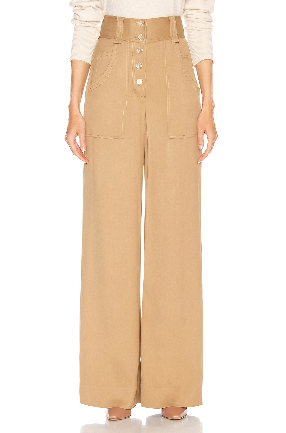 Image 1 of JONATHAN SIMKHAI Structured Carpenter Pant in Ochre