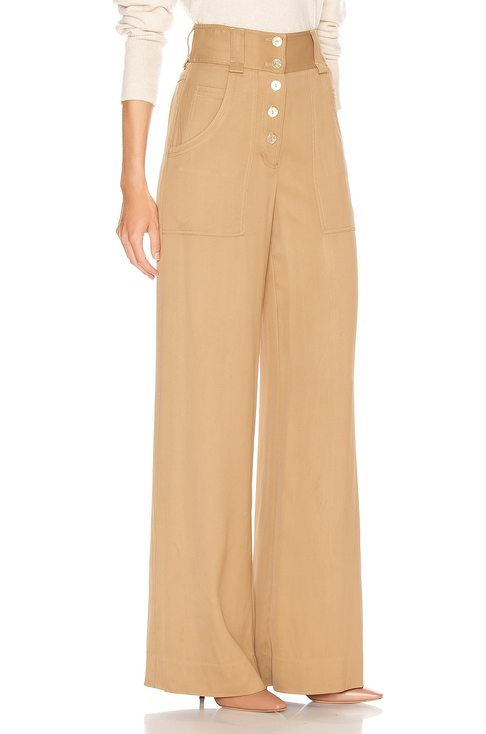 Image 2 of JONATHAN SIMKHAI Structured Carpenter Pant in Ochre
