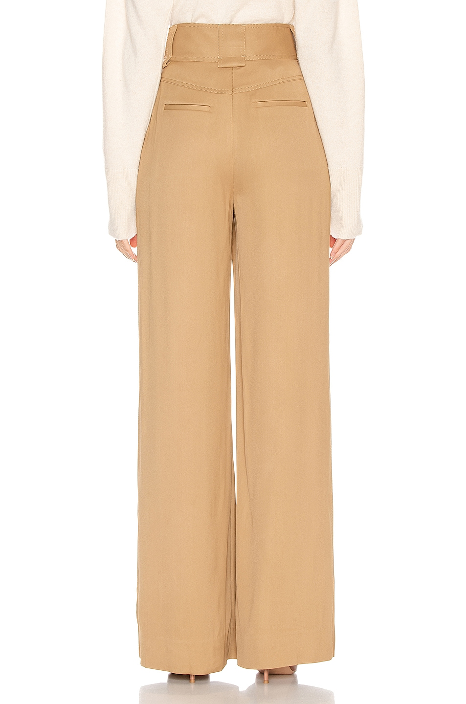Image 3 of JONATHAN SIMKHAI Structured Carpenter Pant in Ochre