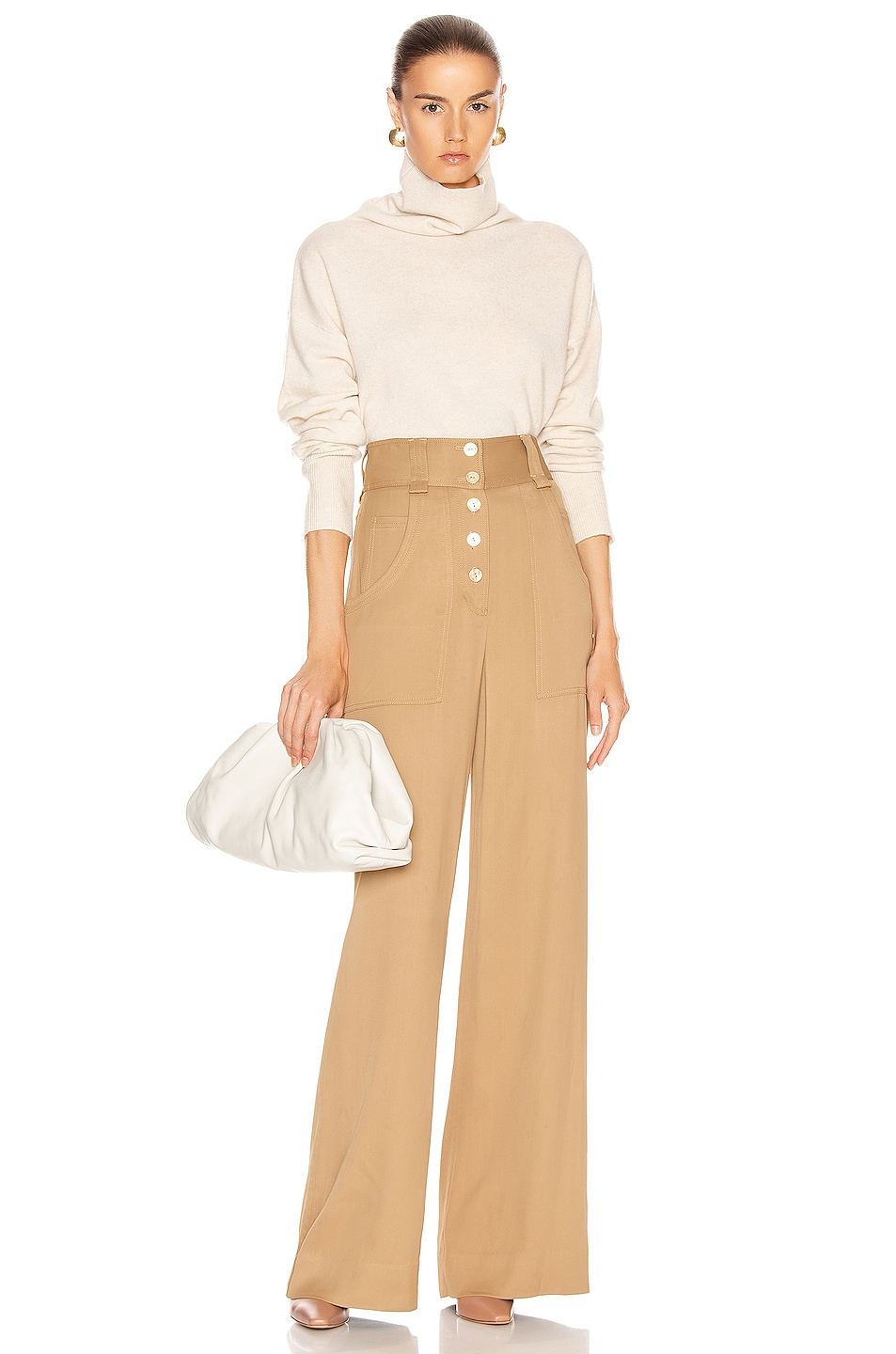 Image 4 of JONATHAN SIMKHAI Structured Carpenter Pant in Ochre