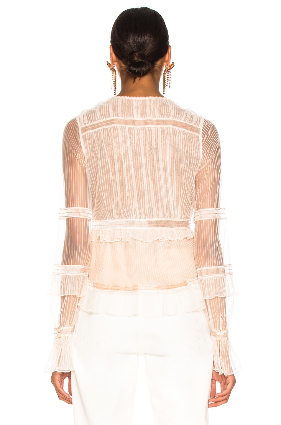 Image 3 of JONATHAN SIMKHAI V Neck Blouse in Nude