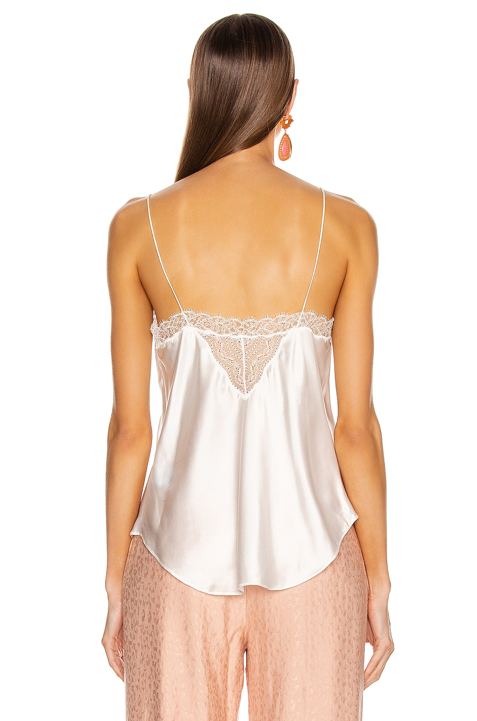 Image 3 of JONATHAN SIMKHAI Lingerie Lace Cami in White