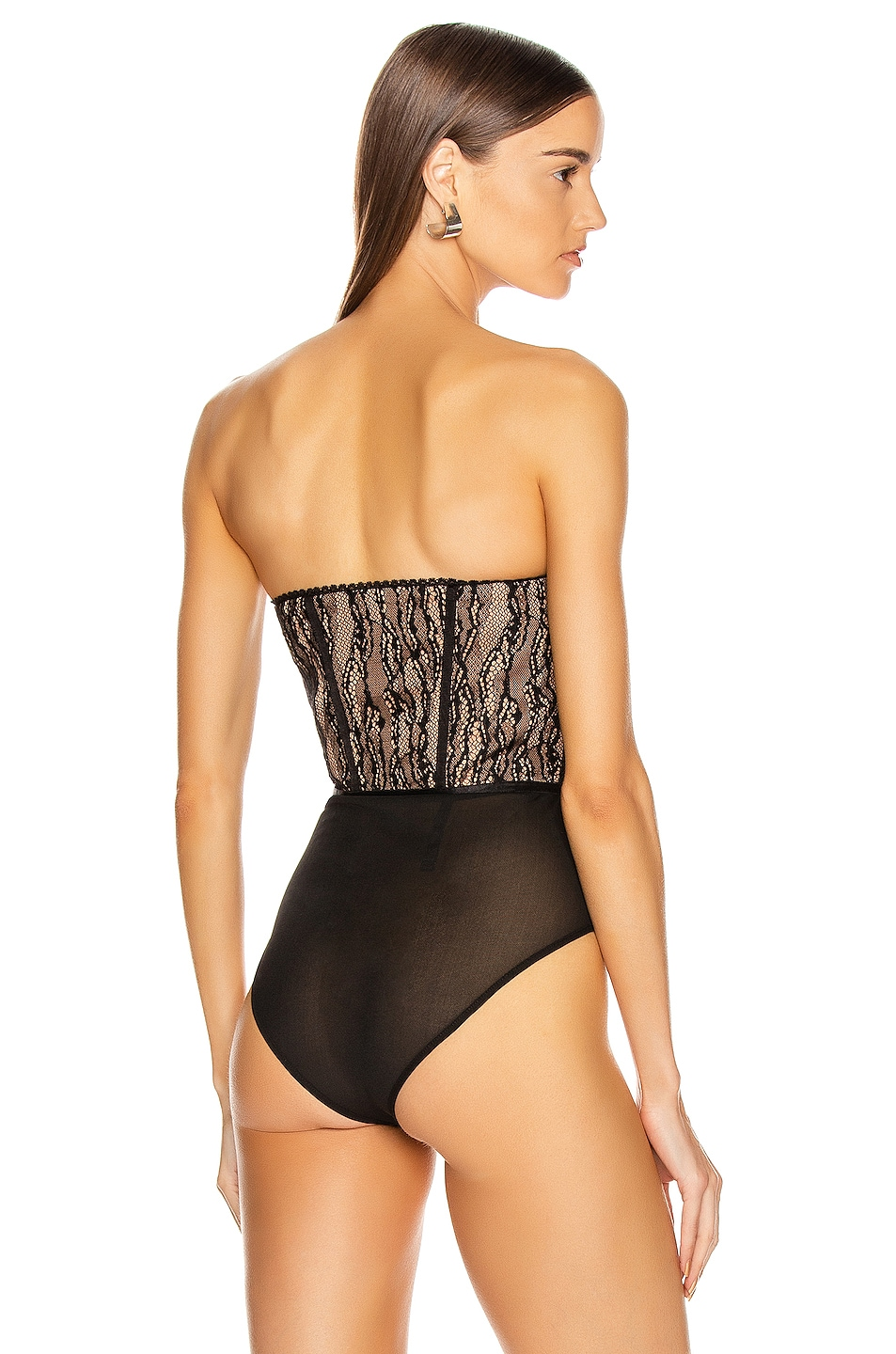 Image 5 of JONATHAN SIMKHAI Lingerie Bustier Bodysuit in Midnight