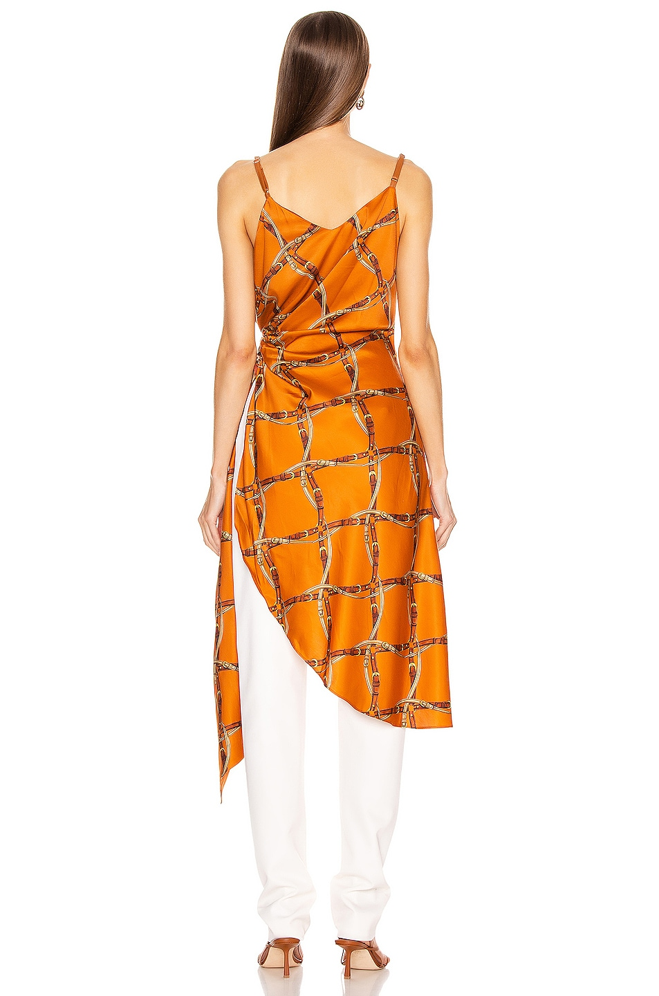 Image 4 of JONATHAN SIMKHAI Saddle Print Wrap Top in Amber Combo